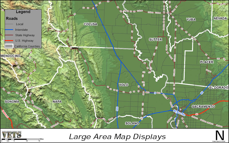 GIS Map Example - Large Area Map Displays