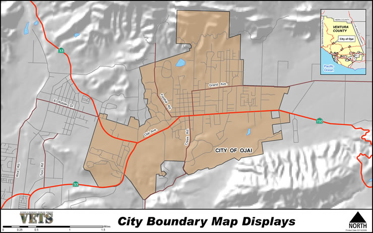 City Boundary Map Displays Example