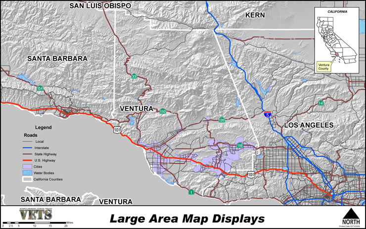 Large Area Map Displays Example