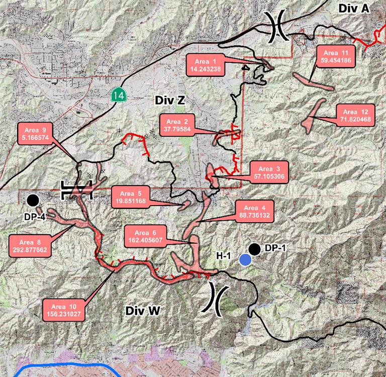Retardant Survey Map