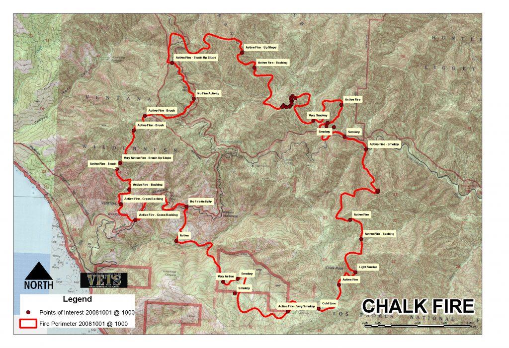 2008 Chalk Fire - Ventana Wilderness (Big Sur), CA - VETS Response on